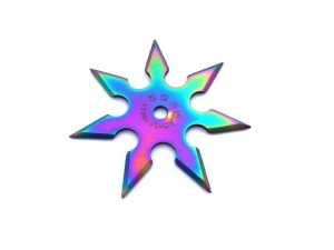 Nóż do rzucania - Gwiazdka Shuriken Rainbow N-403B